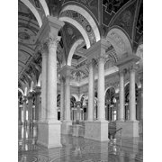 Great Hall  second floor  north. Library of Congress Thomas Jefferson Building  Washington  D.C. - B Poster Print by