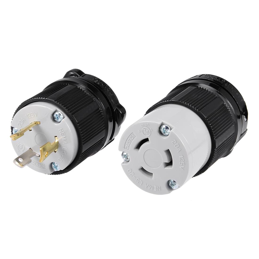 Unique Bargains L5 20 Generator Plug Connector Set 20a 125v 2p 3w Us Wiring Yuadon Authorized