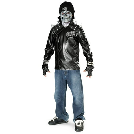 Teen Metal Skull Biker Costume