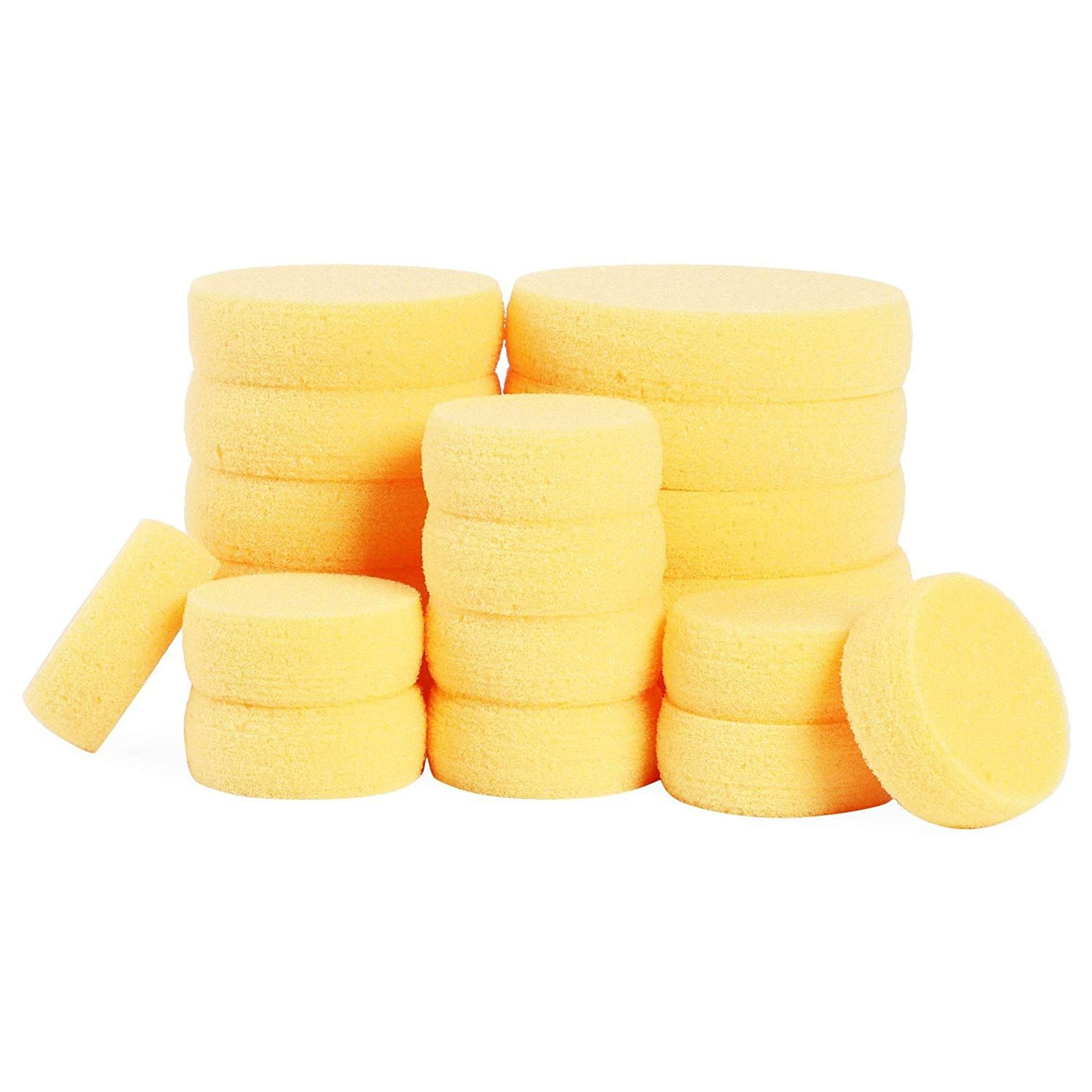 Pottery Crafts Yellow Watercolor Round Synthetic Artist Brush Painting Sponge
