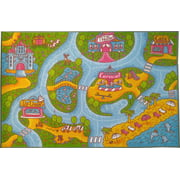 Kc Cubs Playtime Collection S Road Map Multicolor Polypropylene Educational Area Rug 3