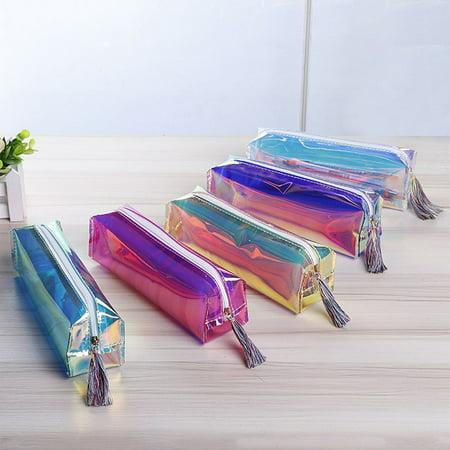 Ustyle Women Girls Glitter PU Pencil Case Pen Cosmetic Bag ...