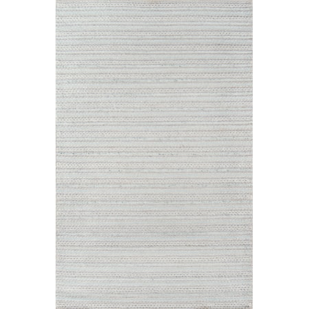 Momeni Andes Hand Woven Wool and Viscose Light Grey Area Rug 2' X 3' ()