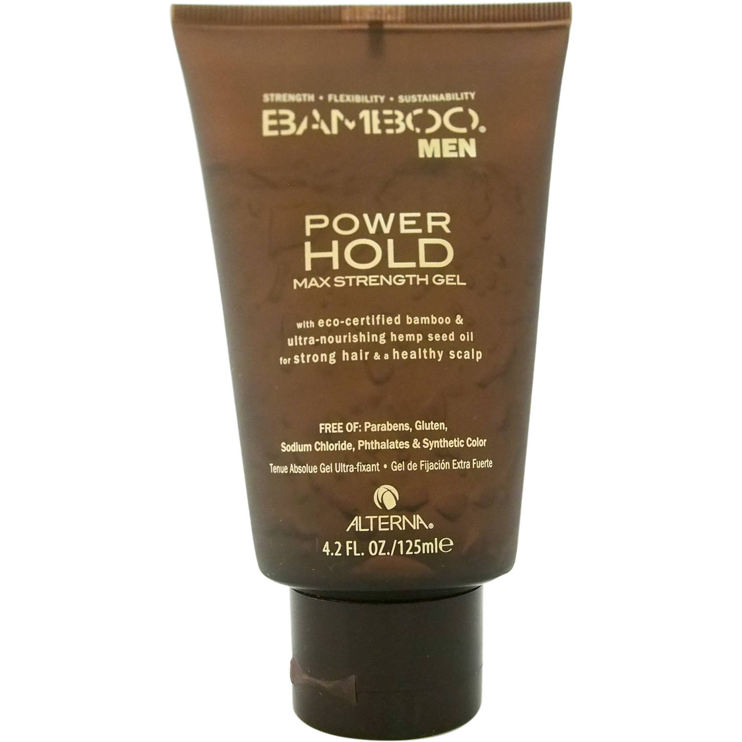 Alterna Bamboo Men Power Hold Max Strength Gel for Men, 4.2 fl oz