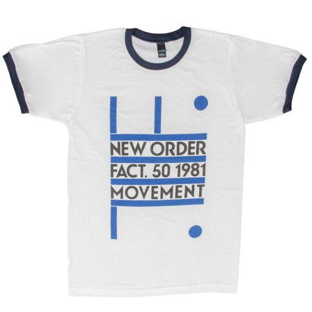 Scott Pilgrim New Order Fact. 50 1981 Movement Adult White T-Shirt ()