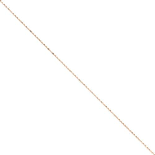 14k Rose 20in Gold .70mm Box Link Necklace Chain