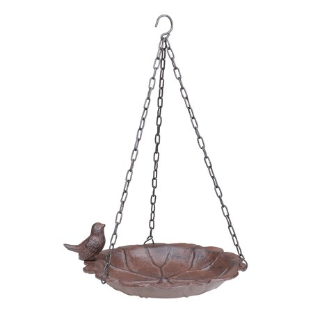 Mainstays Leaf Cast Iron Outdoor Hanging Bird Feeder