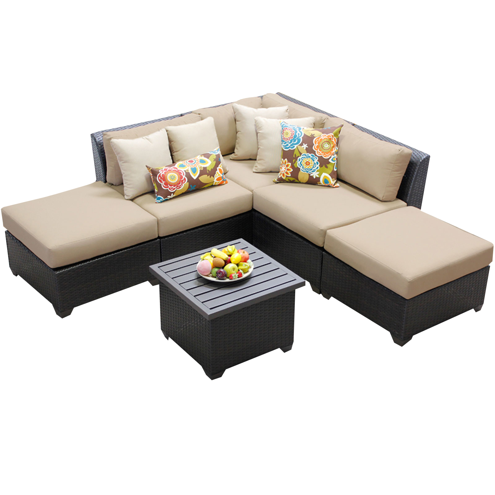 Bermuda 6 Piece Set All Weather Wicker Patio Furniture by TK Classics