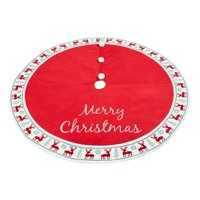 "Holiday Time Knit Reindeer Christmas Tree Skirt, 48"""