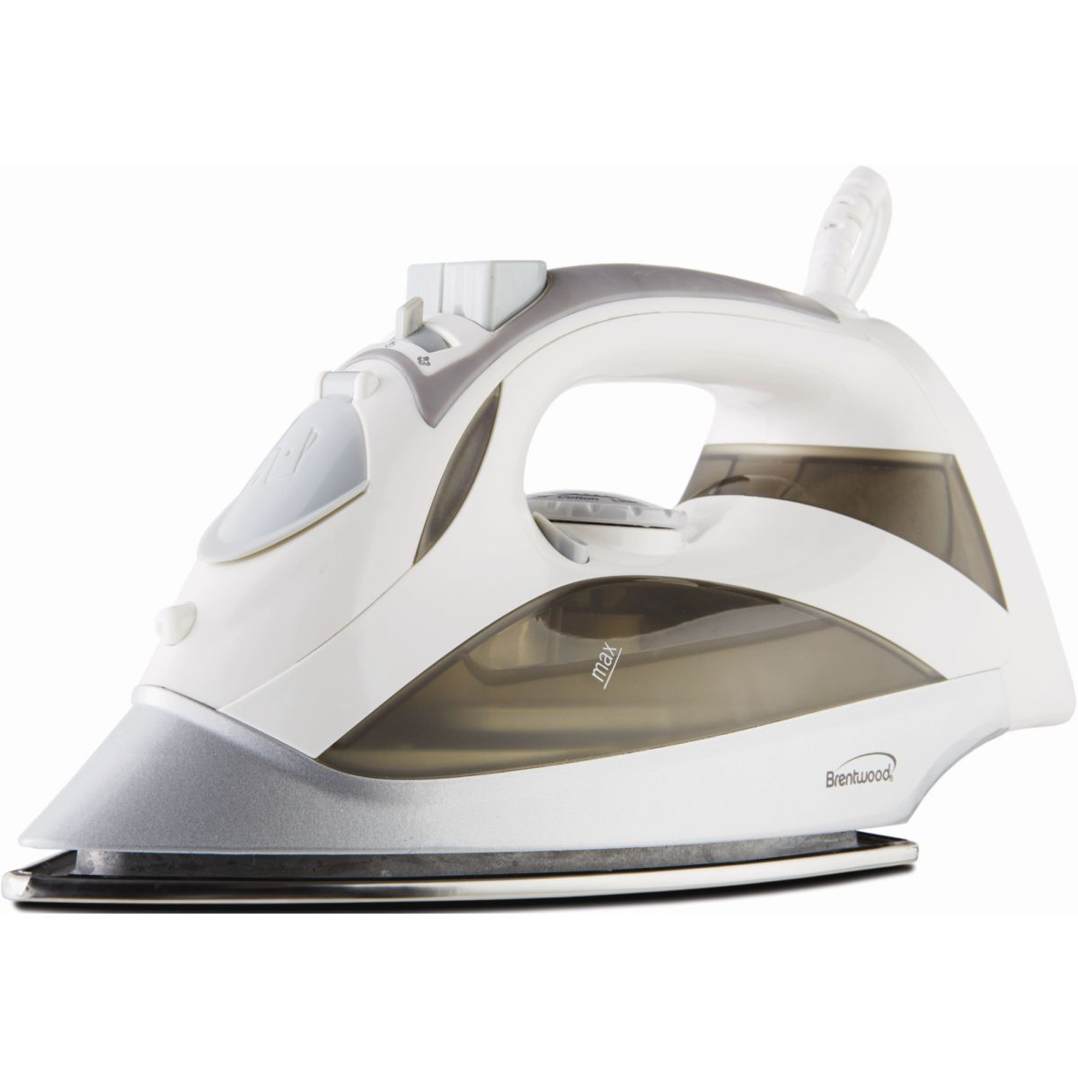 Brentwood [mpi-90w] Steam Iron With Auto Shut-off [white] - Stainless Steel Sole Plate - 1200 W - White (mpi90w)