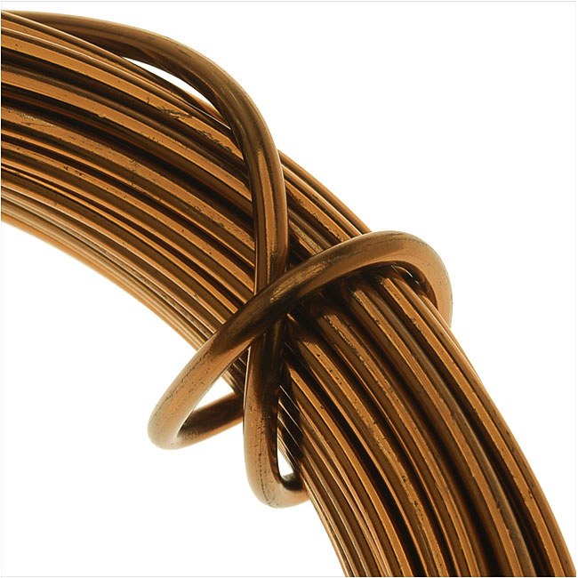 Artistic Wire, Aluminum Craft Wire 12 Gauge Thick, 12 Meter Spool, Anodized Light Brown