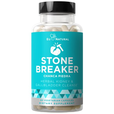 Stone Breaker Chanca Piedra - Natural Kidney Cleanse & Gallbladder Formula - Detoxify Urinary Tract, Flush Impurities, Clear System - Hydrangea & Celery Seed Extract - 60 Vegetarian Soft Capsules Chanca Piedra Extract
