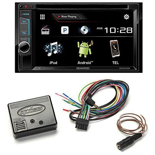 Kenwood DDX373BT Double Din Monitor In-Dash Bluetooth DVD Receiver + Metra Axxess ASWC-1 Universal Steering Wheel... by Kenwood