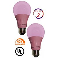 Sleeklighting LED A19 Pink Light Bulb, 120 Volt, 3 Watt Medium Base, UL-Listed LED Bulb, -(lasts more than 20,000 hours)