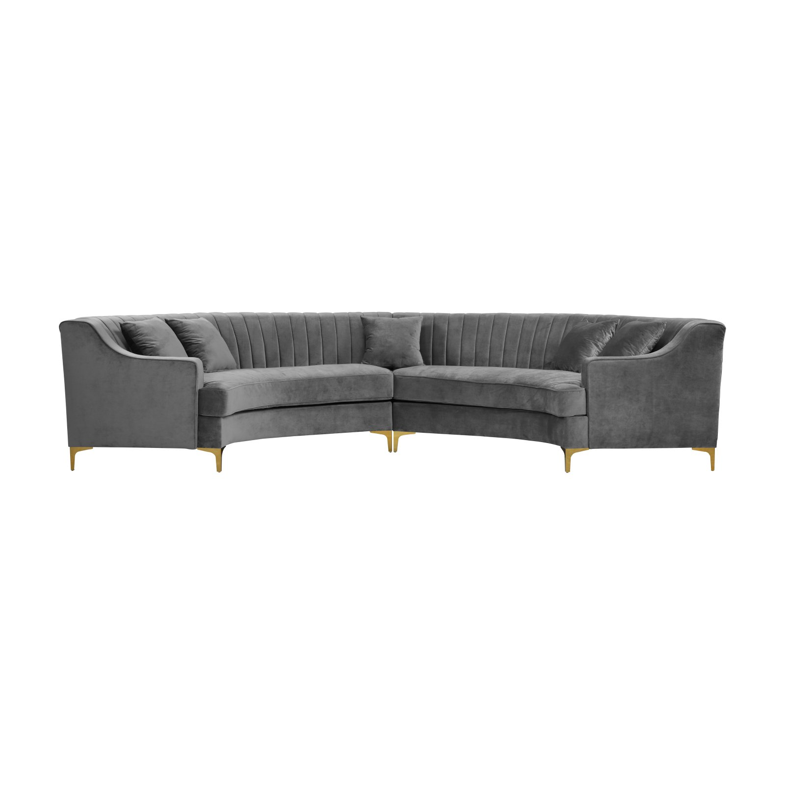 Meridian Furniture Inc Jackson Upholstered Sectional Sofa