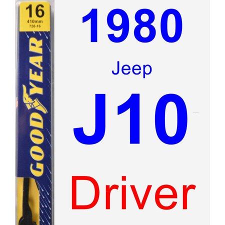 1980 Jeep J10 Driver Wiper Blade - Premium