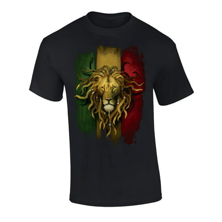 Fantasy Rasta Lion Graphic Short Sleeve Adult - Lion Onesie Adult