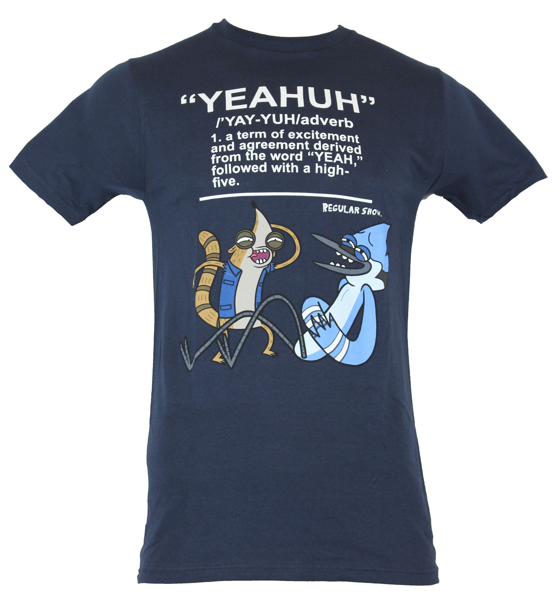 """Regular Show Mens T-Shirt  - """"YEAHUH"""" adverb Defined Image"""