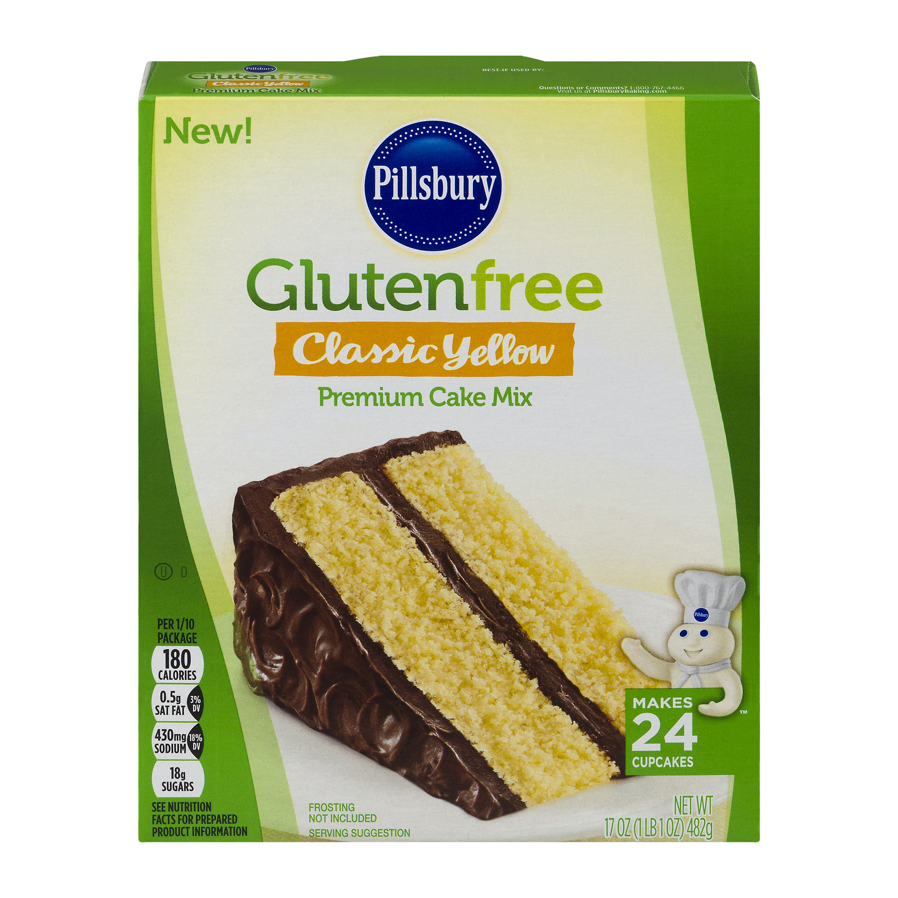 Pillsbury Gluten Free Classic Yellow Premium Cake Mix, 17.0 OZ