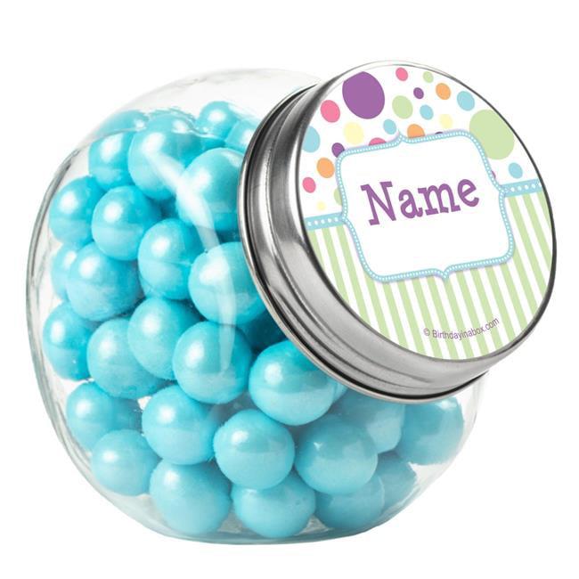 Costume Supercenter BB1359PGJ Tiny Bundle Blue Personalized Plain Glass Jars
