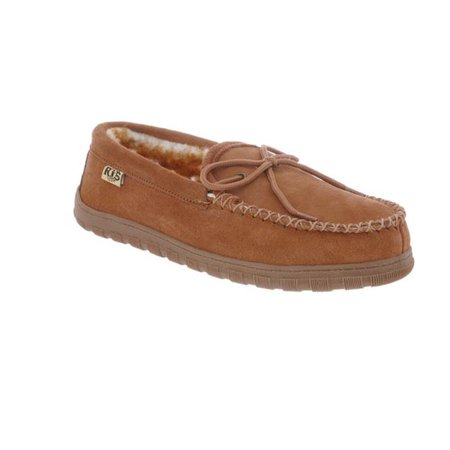 RJ's Fuzzies Cowhide Suede Sheepskin Leather Lined Moccasins ()