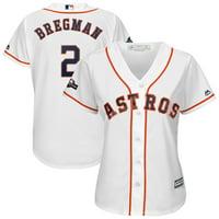 Alex Bregman Houston Astros Majestic Women's 2019 Postseason Official Cool Base Player Jersey - White