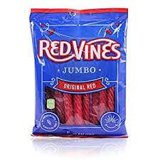 Red Vines, Original Red Twists, 8 oz (Pack of 18)