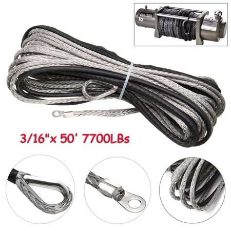7700/5800 LBS Nylon rope Outdoor Camping Accessories pulling rope Synthetic  Winch Line Cable Pulling Rope with Sheath ATV UTV Vehicle Suppliers Auto