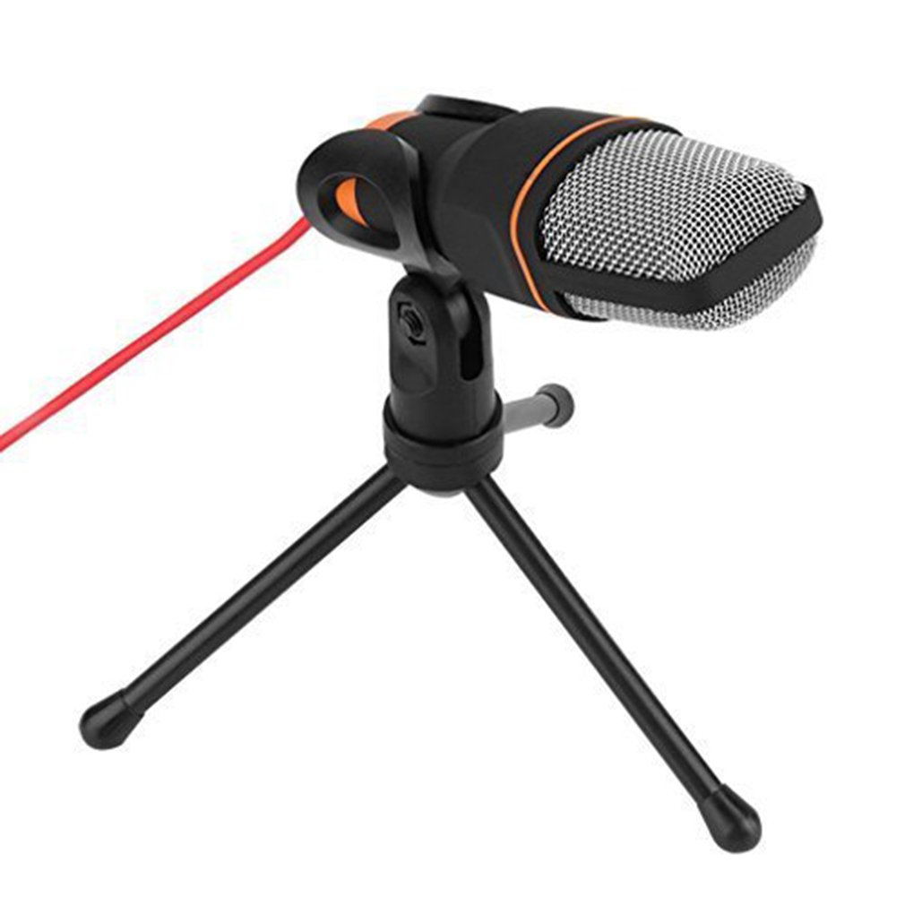 Professional 3.5mm Audio Condenser Sound Studio Recording Singing Broadcasting Microp hone Mic with Tri pod For PC l aptop Computer
