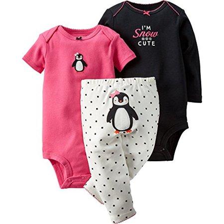 8082ba288 Carter's - Carter's Baby Girls' 3-Piece Turn-Me-Around Pant Set - Penguin  Dot - Newborn - Walmart.com