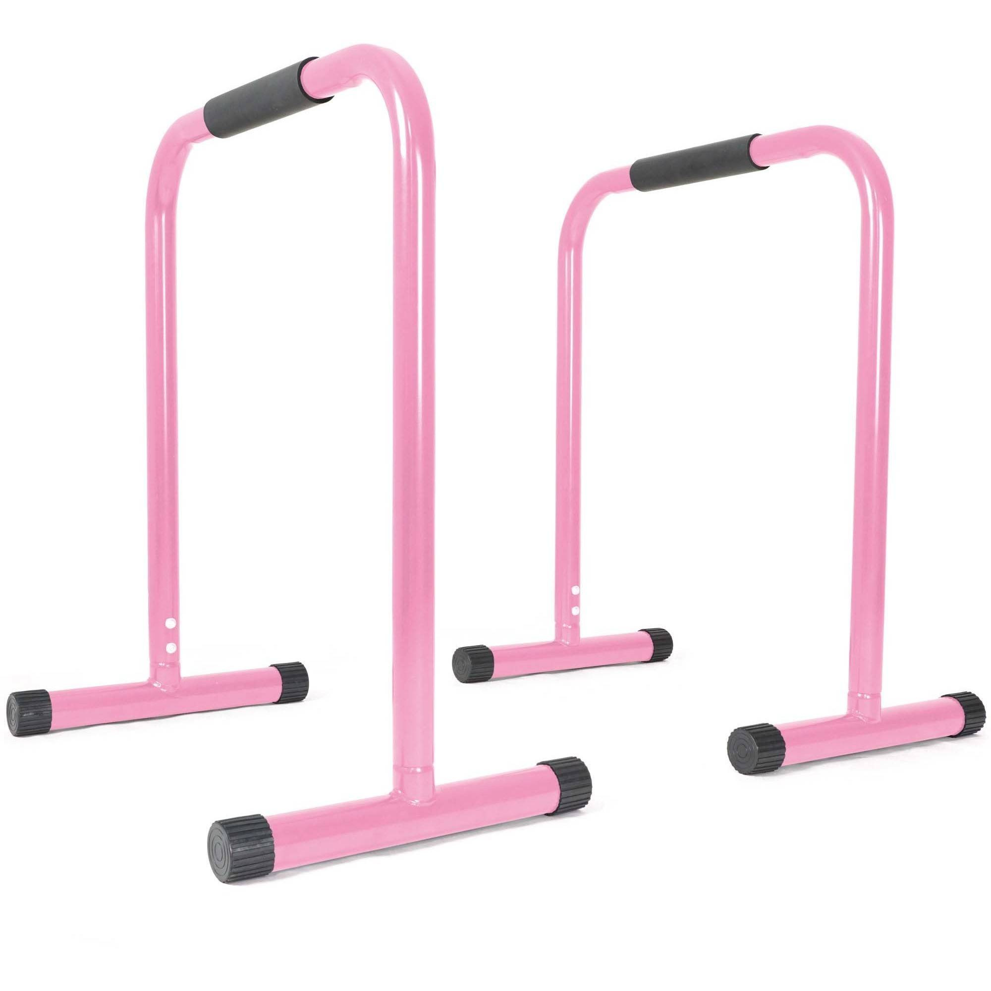 Titan Fitness Pink Dip Station Leg Raise Bars