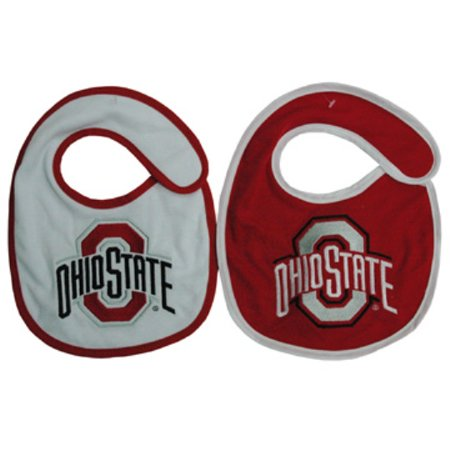 Ohio State Buckeyes Team Logo Cotton Baby Bibs - 2 Pack - Ohio State Baby Clothes