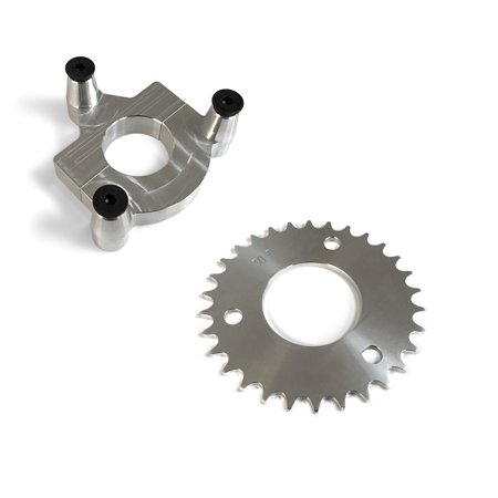 - 30 Tooth CNC Sprocket & 1.0 Inch Adapter Assembly For 80CC Gas Motorized Bicycle