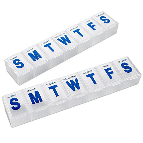 MEDca Weekly Pill Organizer, 7-Day Pill Planner Extra Large, 2 packs