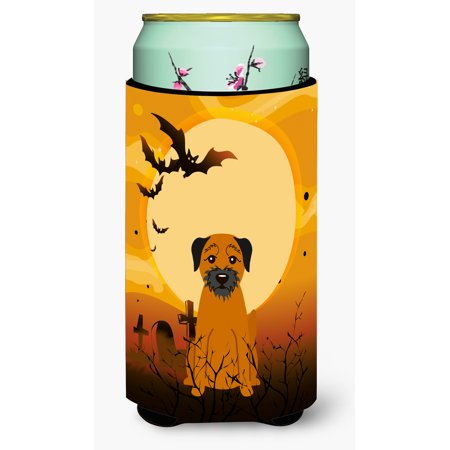 Halloween Border Terrier Tall Boy Beverage Insulator Hugger BB4305TBC - Halloween Corner Borders