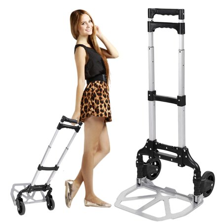 Telescoping Portable Folding 150 lbs Hand Truck Dolly Luggage Carts Aluminum Alloy HFON