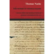 The Works of Thomas Nashe - Edited from the Original Texts by Ronald B. McKerrow Vol. III.