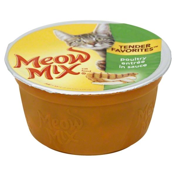 Meow Mix Tender Favorites Poultry Entrée in Sauce