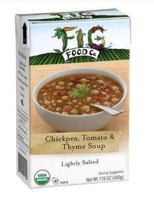 6 Pack : Fig Food Company Organic Chickpea Tomato And Thyme Soup Lightly Salted, 14.5 Oz by
