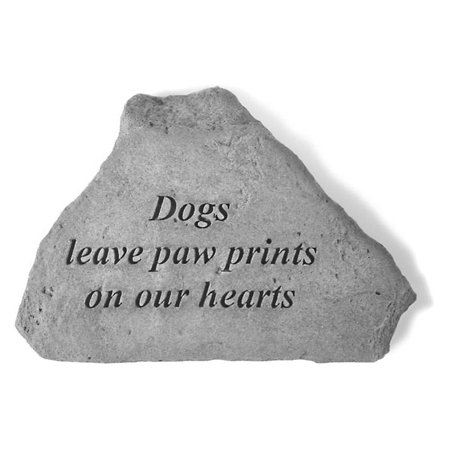 Dogs Leave Paw Prints Garden Accent - Stone Dogs Leave Paw Prints