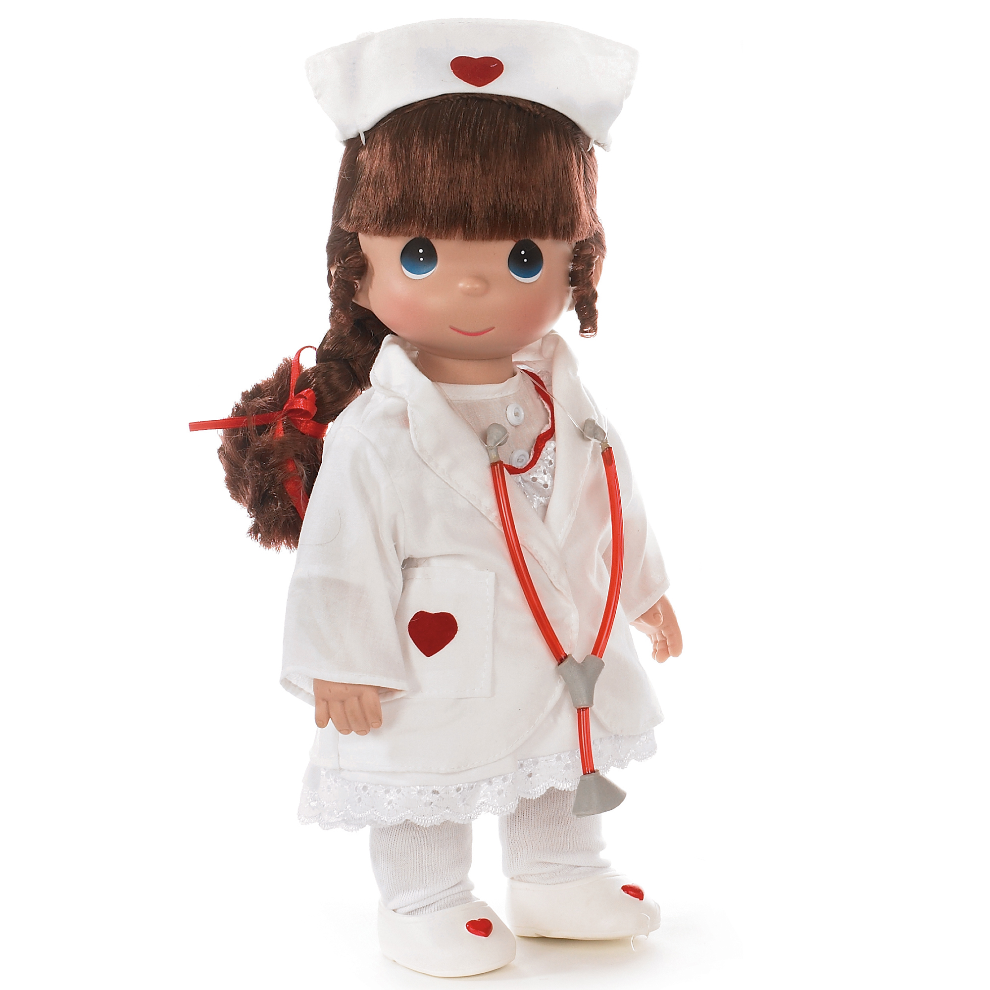 Precious Moments Dolls by The Doll Maker, Linda Rick, Loving Touch Nurse, Brunette, 12 inch doll