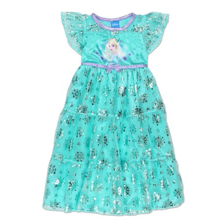 Frozen Queen Elsa Toddler Girls' Fantasy Gown Nightgown Pajamas 21FZ732TGS (Elsa Frozen Gown)