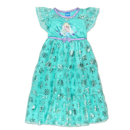 Frozen Queen Elsa Toddler Girls' Fantasy Gown Nightgown Pajamas 21FZ732TGS - Queen Elsa Gown