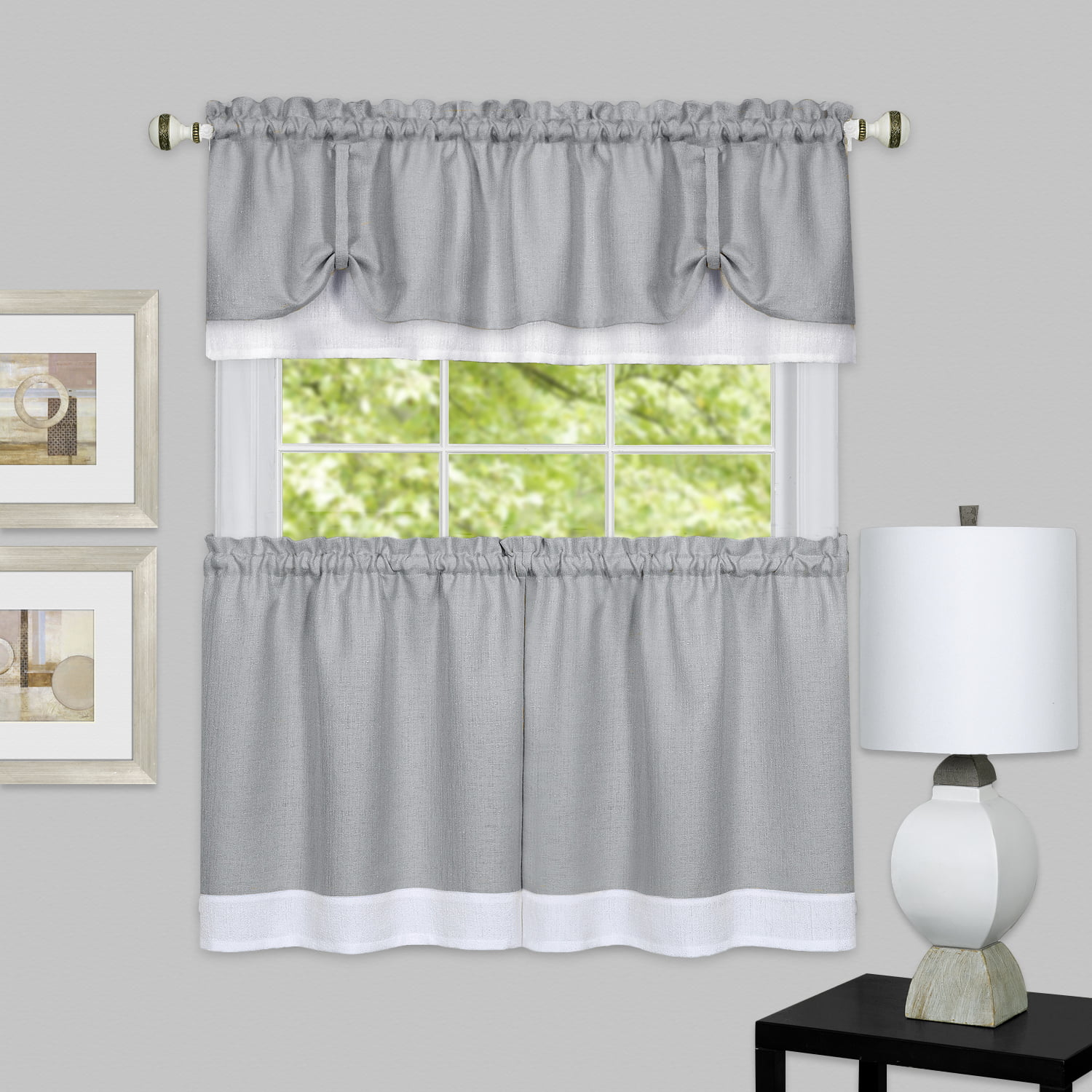 Darcy Window Curtain Tier and Valance Set by Achim Importing Co. Inc