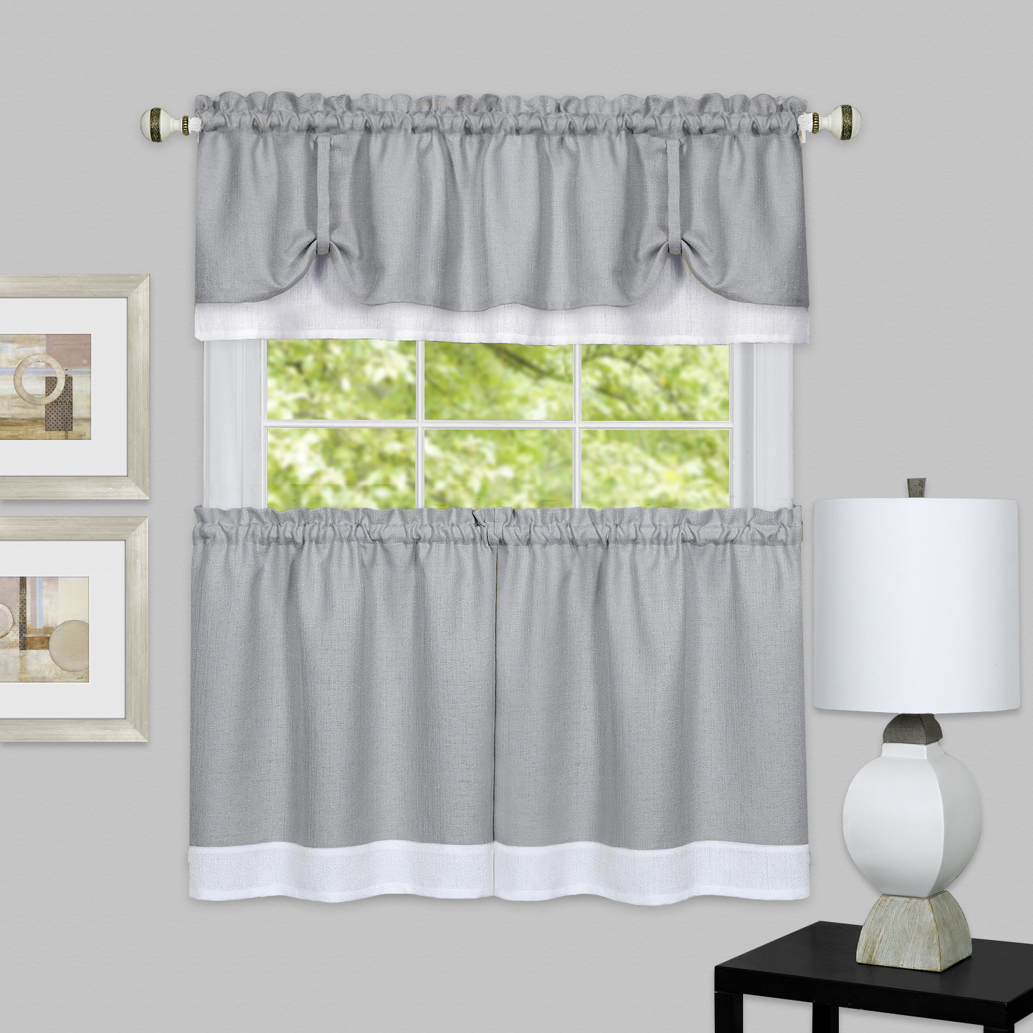 Darcy Window Curtain Tier and Valance Set