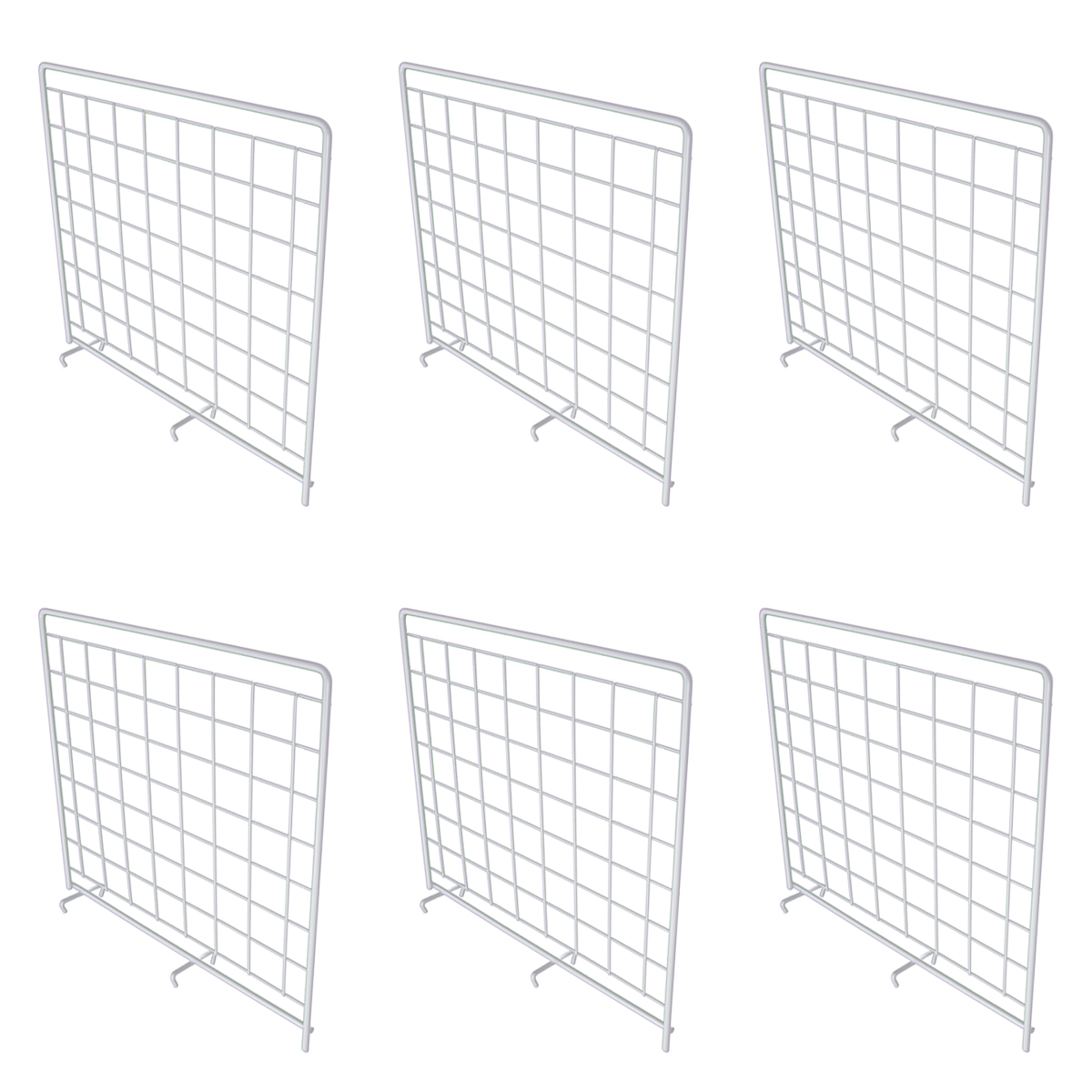 6 Pack Rubbermaid White Grid Wire Shelf Dividers For Closets Storage Shelving Systems