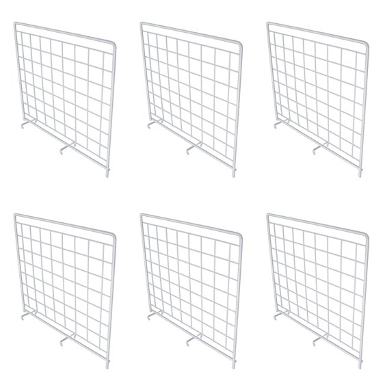 6 Pack Rubbermaid White Grid Wire Shelf Dividers For