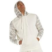 Vibes Men's Fleece Pullover Hoodie Shirts Spacedye Printed Long Sleeve