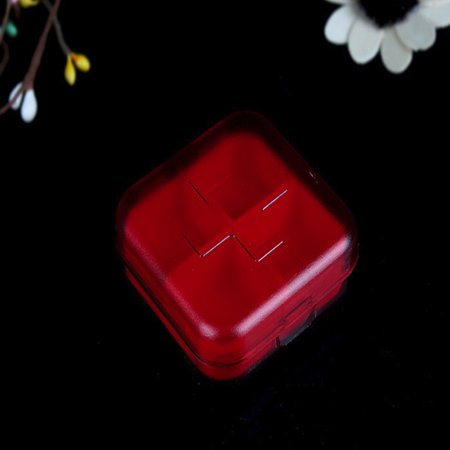 Stub Mini (Square Portable Kit Mini Kit Portable Small Kit Cute Four Grid Sub Box Pill Box)