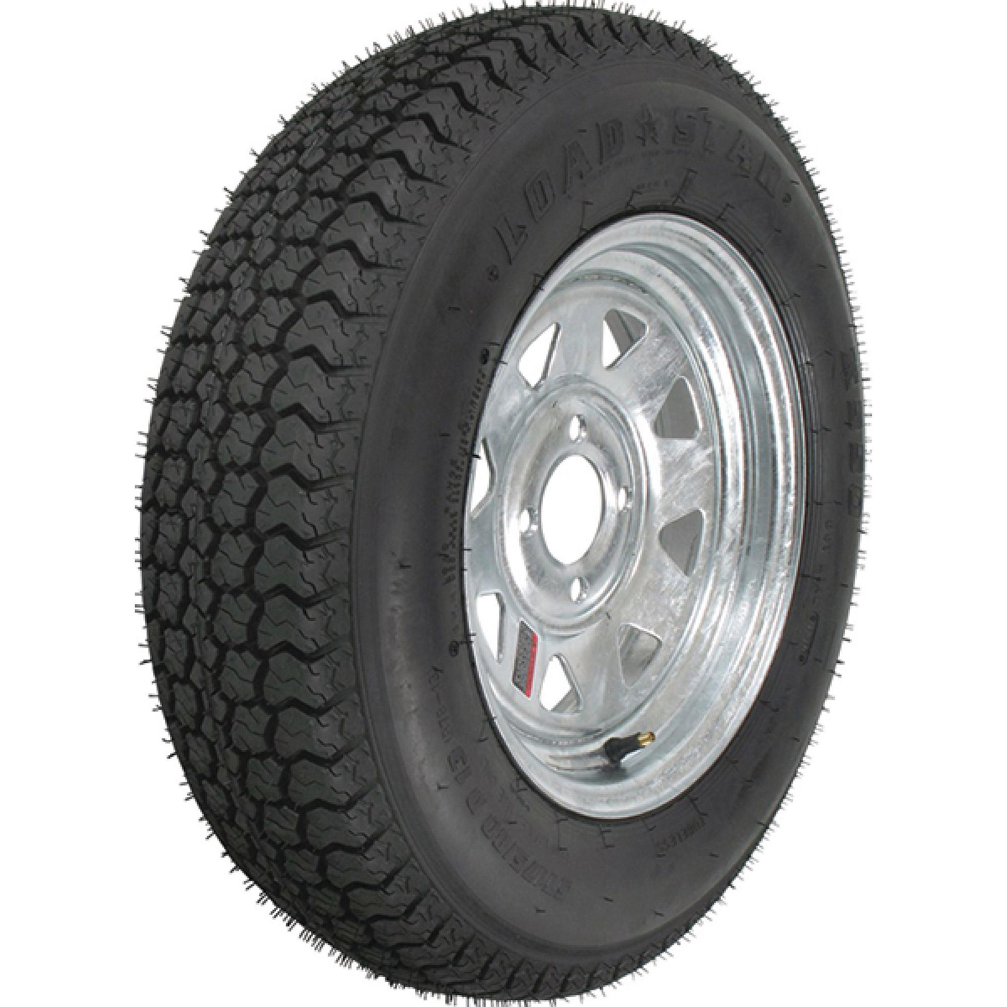 "2-Pk Trailer Tire & Rim ST175/80D13 13"" Load C 4 Lug Galv..."